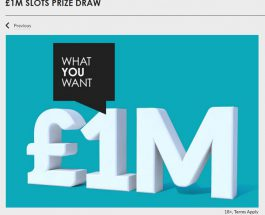 Gala Casino Launches £1 Million Slot Prize Draw