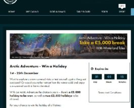 Win a £5K Holiday with Grosvenor Casino's Arctic Adventure Competition