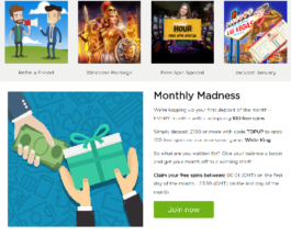 Get 100 Free Spins at Casino.com