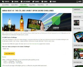 Win a Seat at the Unibet Open Casino Challenge