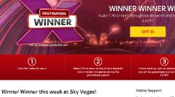 Sky Vegas Guarantees Cash Prizes All Week Long