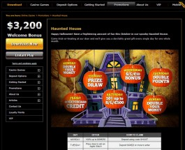Enjoy Daily Bonuses in Casino.com Haunted House Promotion