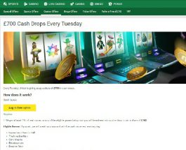 Win a Share of £700 Cash at Unibet on Tuesday