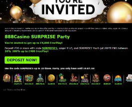 Win Surprise Free Play of Up to £4K at 888 Casino