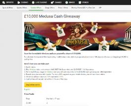 Win Cash Prizes in Unibet £10K Medusa Cash Giveaway