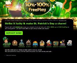 Enjoy St. Patrick's Free Play at 888 Casino