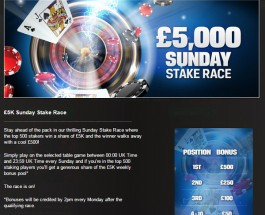 Win a Share of £5K at Coral Casino this Sunday
