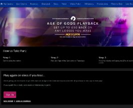 Receive up to £50 Cashback on Age of the Gods at Sky Casino