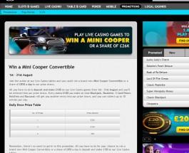 Win a Mini Cooper Convertible at Grosvenor Casino