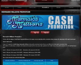 Win Cash Prizes Playing Mermaids Millions at Next Casino