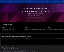 Win up to £2K with Sky Casino Winter Warmer