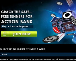 Win £10 of Free Play on Action Bank Slots at Gala Casino