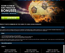 Receive Up to £100 in Casino Bonuses for Predicting Euro 2016 Results