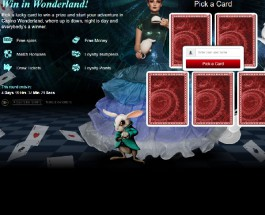 Win Prizes and Bonuses in Win in Wonderland at Wild Jack