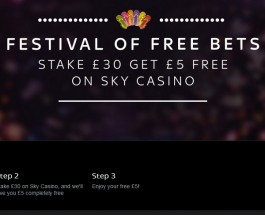 Enjoy The Sky Casino Festival Of Free Bets