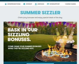 InterCasino's Summer Sizzler Promotion Offers Eight Days of Bonuses