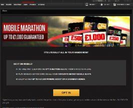 Receive Up to £1,000 in NetBet Casino's Mobile Marathon