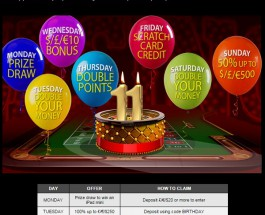 Mansion Casino Celebrates 11th Birthday with Player Bonuses