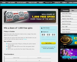 Enjoy Friday Free Spins at Grosvenor Casino