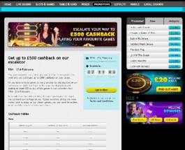 Enjoy Up to £500 Cashback at Grosvenor Casino