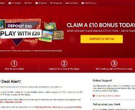 Sky Vegas Casino Offers All Members £10 Bonus