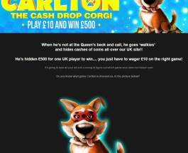 NetBet Casino Offers £500 Prizes through Carlton the Corgi
