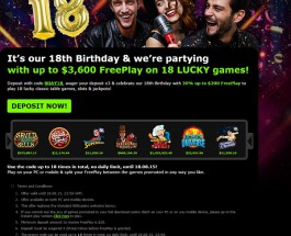 888 Casino Celebrates 18th Birthday with $3,600 of Free Play
