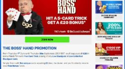 Get a £20 Bonus in BGO's The Boss' Hand Promotion