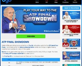 Win Tickets to the ATP World Tour Finals at BGO Casino