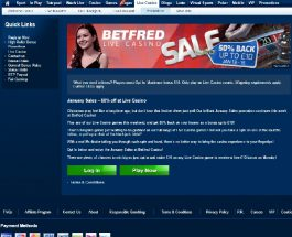 Betfred Casino Offers Live Dealer January Sales