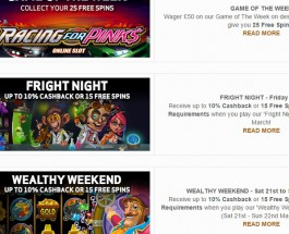BetVictor Casino Offers End of Week Free Spins