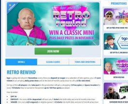 Win a Mini Classic in BGO Casino Retro Rewind Promotion