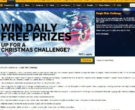 Win Daily Prizes in Betfair Casino Sleigh Ride Challenge