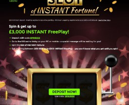 Receive up to £3K of Free Play with 888 Slot of Instant Fortune Awards