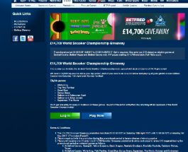 Win a Share of £14,700 in Betfred World Snooker Championship Prize Draw