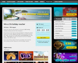 Win a £1,000 Holiday Voucher at Grosvenor Casino