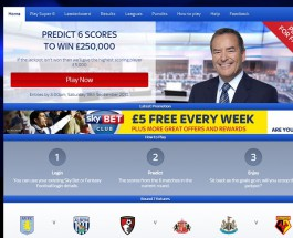 Sky Vegas Offers £250K Super 6 Jackpot Every Weekend