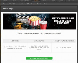 Enjoy a Movie Night Bonus at BetVictor Casino