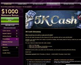 Les A Casino Runs £5000 Prize Draw