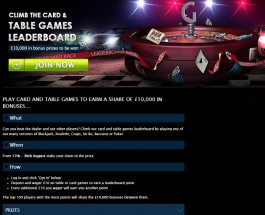 Win a Share of £10K Playing Card and Table Games at Gala Casino