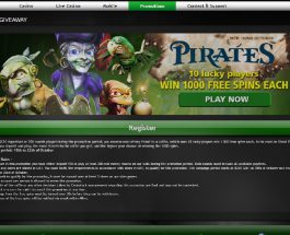 Win 1000 Free Spins in Casino Luck Pirate Promotion