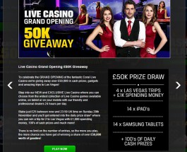 Coral Casino Launches Live Casino with £50K Giveaway