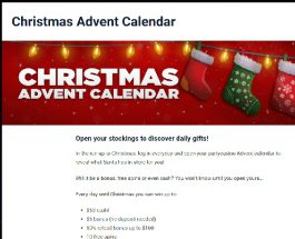 Get a Daily Advent Bonus at Party Casino