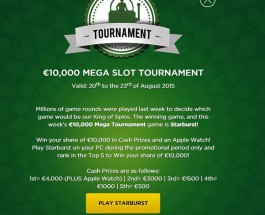 Win a Share of €10,000 in Mr Green Mega Slot Tournament