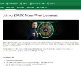 Win a Share of £10K with Unibet Casino's Money Wheel Tournament
