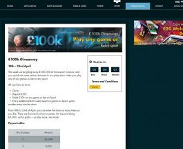 Win a Share of £100K at Grosvenor Casino