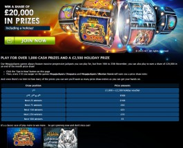 Win a Share of £20K and a Holiday Voucher at Gala Casino