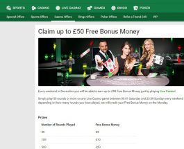 Enjoy £50 Bonus Cash at Unibet Casino This Weekend