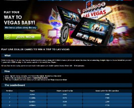 Win a Trip to Las Vegas at Gala Casino