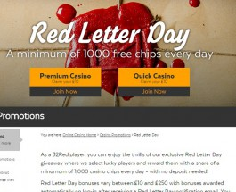 32Red Casino is Giving Away 1000 Chips Every Day